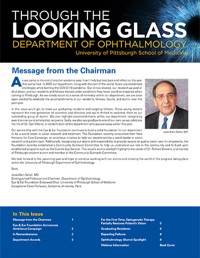 Through the Looking Glass - University of Pittsburgh Spring 2021 Alumni Newsletter